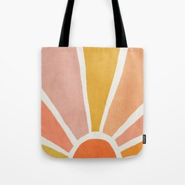 Sun, Mid century modern kids wall art, Nursery room Tote Bag