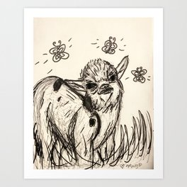 Beautiful Baby Goat Art Print