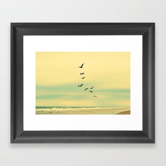 Across the Endless Sea Framed Art Print