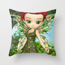 Lil Fairy Princess Throw Pillow