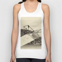 aviation Tank Tops featuring Airplane by DistinctyDesign