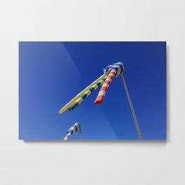 Flying Wind Socks and Blue Sky Metal Print