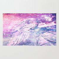 celestial Area & Throw Rugs featuring Celestial Angel by 2sweet4words Designs