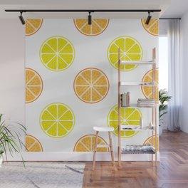 Orange and lemon fruit slices Wall Mural