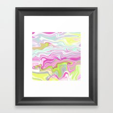 Iridescent Marble 05 Framed Art Print