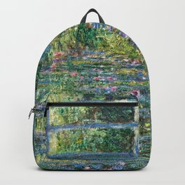 Claude Monet - Water Lily pond, Green Harmony Backpack