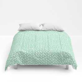 Hand Knit Mint Comforters