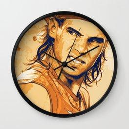 rf, roger federer, roger, federer, tennis, wimbledon, grass, tournament, ball, legend,  Illustration Wall Clock
