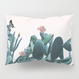 Cactus & Flowers - Follow your butterflies Pillow Sham