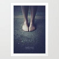 feet Art Prints featuring Feet by no more lookism