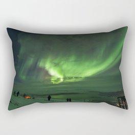 Northern Lights in Abisko Sweden Rectangular Pillow