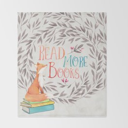 Read More Books - Fox Throw Blanket