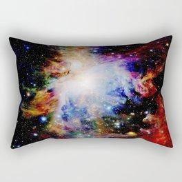 GaLaXY : Orion Nebula Dark & Colorful Rectangular Pillow
