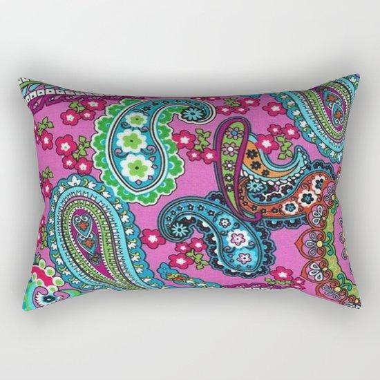 Floral Paisley Pattern 03 Rectangular Pillow