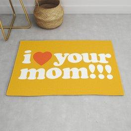 I love your mom by Dennis Weber of ShreddyStudio Rug