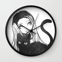 Here Kitty Kitty Wall Clock