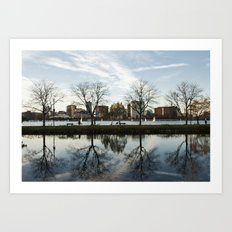 Esplanade Reflection Art Print