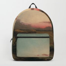 The Marshes At Rhode Island 1866 By Martin Johnson Heade   Reproduction Backpack