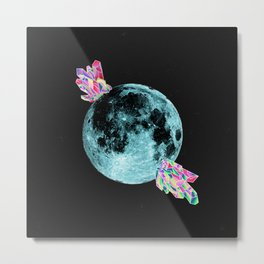 Crystal Moon Metal Print