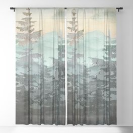 Pine Trees Sheer Curtain