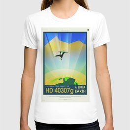 A Super Earth Retro Space Poster T-shirt