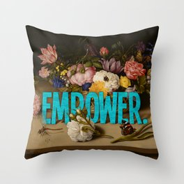 Empower. Throw Pillow