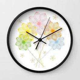 Blooming Flowers Wall Clock