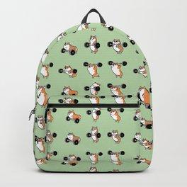 Olympic Lifting Corgi Backpack