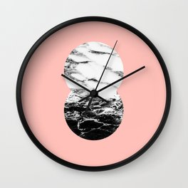 two marble circles on peach Wall Clock