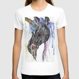 Nightmare unicorn is so goth but still rocking mermaid hair! T-shirt
