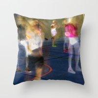 sport Throw Pillows featuring Sport by Egle Tuleikyte