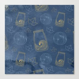 Bottled Sea Pattern Canvas Print