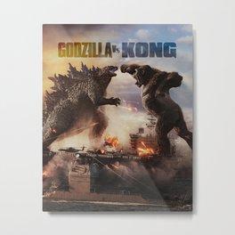 Godzilla vs Kong Metal Print