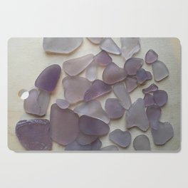 Genuine Purple Sea Glass Collection Cutting Board