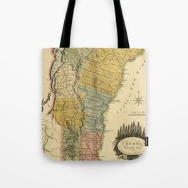 Vintage Map of Vermont (1814) Tote Bag
