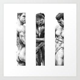 NOODDOOD Strips 1-3 Art Print