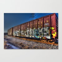 wisconsin Canvas Prints featuring Wisconsin Central by Kent Moody