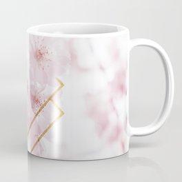 Cherry Blossoms Geometry Coffee Mug