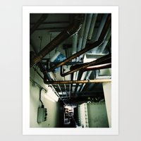 industrial Art Prints featuring Industrial by Nina Saunders