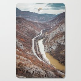 Beautiful picture of the canyon in Serbia. Dramatic sky and mountains Cutting Board