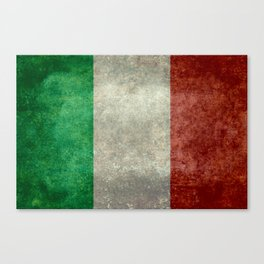 Flag of Italy, Vintage Retro Style Canvas Print