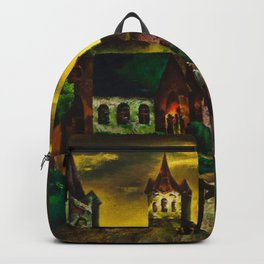 American Masterpiece 'Church on a New England Corner' by Will Schwartz Backpack