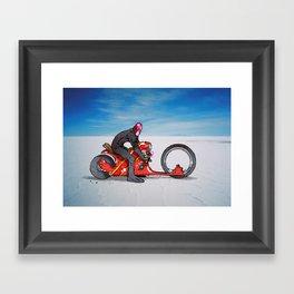 red dredd racer Framed Art Print