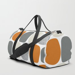 Wonky Ovals in Orange Duffle Bag