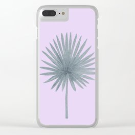 Silver Palm Clear iPhone Case