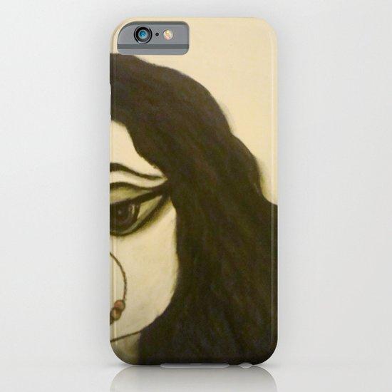 Goddess Durga in charcoal iPhone & iPod Case