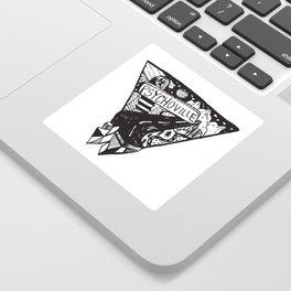 Psychoville black ink drawing Sticker