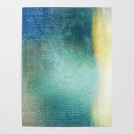 Decorative Blue Writing Texture Vintage Poster