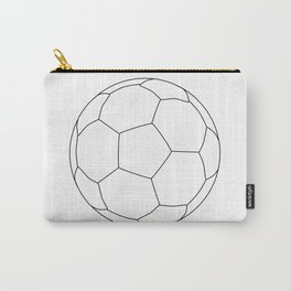 Soccer Ball Over White Carry-All Pouch