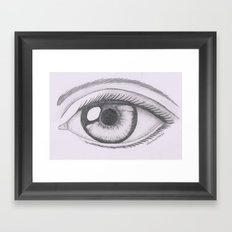 Keep your eyes open and see.... Framed Art Print
